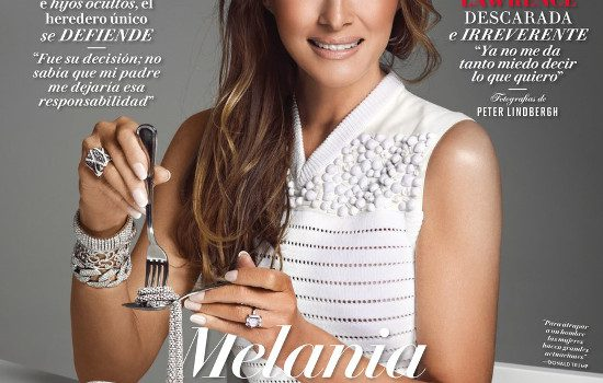 Melania Trump is eating jewels on Vanity Fair Mexico's cover amid one of the worst crises in U.S.-Mexico relations