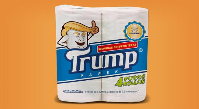 Trump toilet paper will be sold in Mexico, to aid deportees