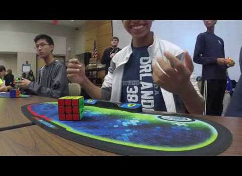 New Rubik's Cube World Record: set at 4.69 seconds, by Patrick Ponce in Virginia, USA