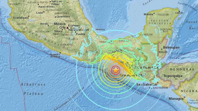 Pijijiapan Mapa Epicentro